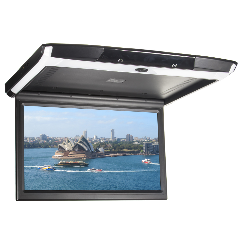 """Stropní LCD monitor 15,6"""" s OS. Android USB/SD/HDMI/FM, dálkové ovládání se snímačem pohybu, černý"""