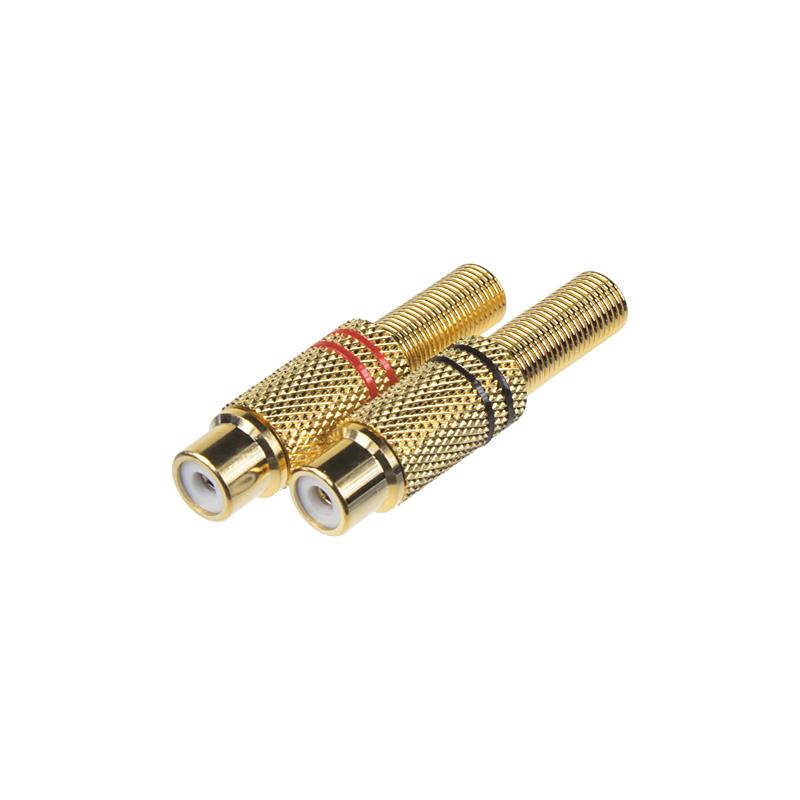 Konektor CINCH GOLD samice-pár
