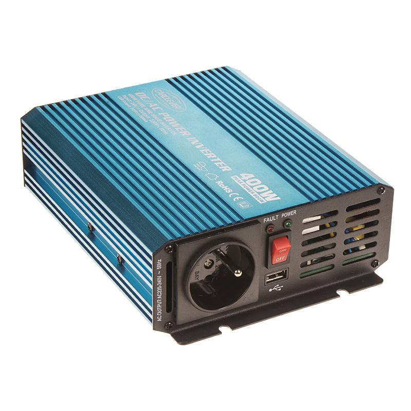 Sinusový měnič napětí z 24/230V + USB, 400W