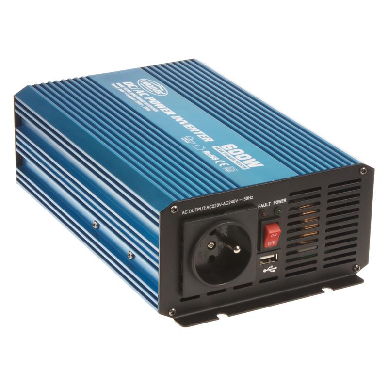 Sinusový měnič napětí z 24/230V, 600W