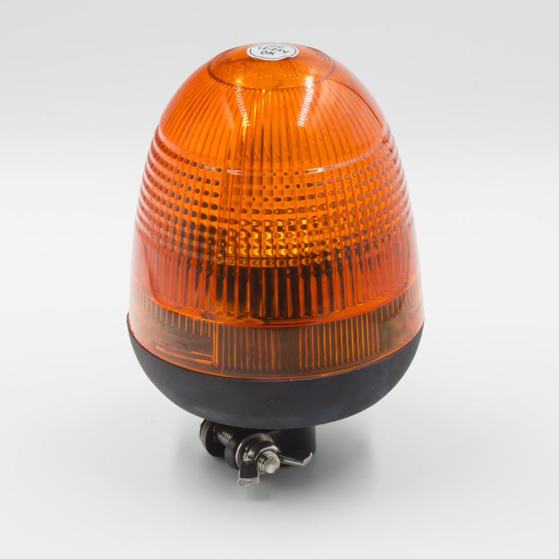 Halogen maják, 12 i 24V, oranžový na držák