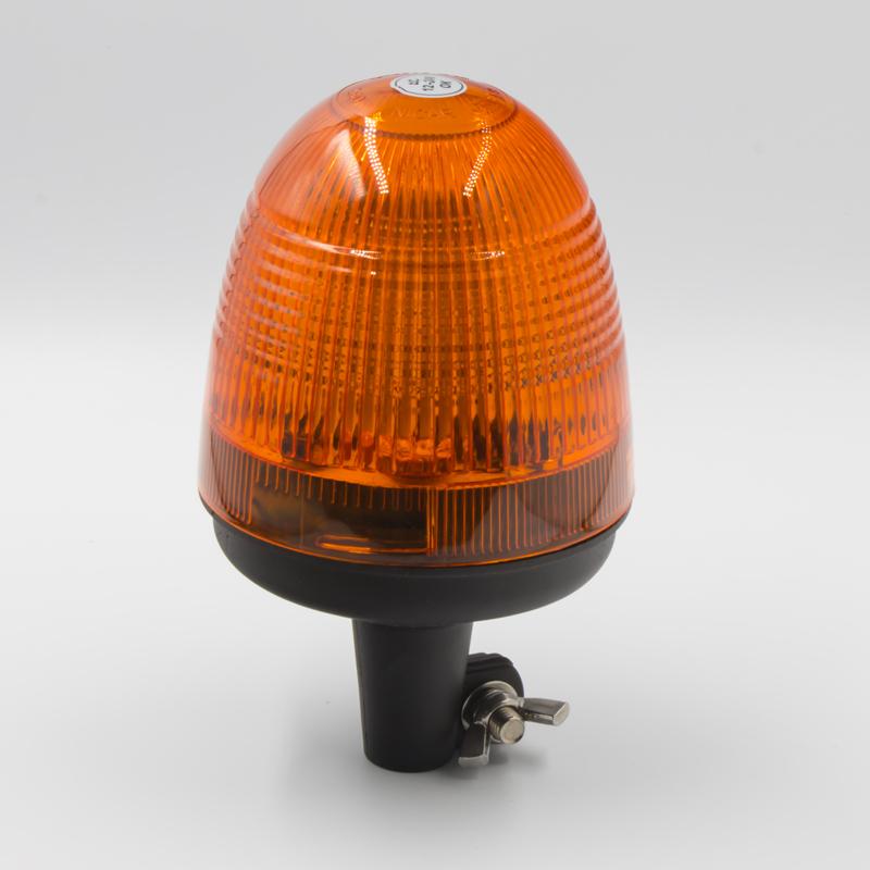LED maják, 12-24V, 40x SMD5050, oranžový na držák