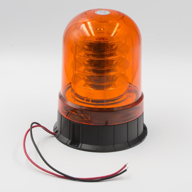 LED maják, 12-24V, 18x3W, oranžový fix