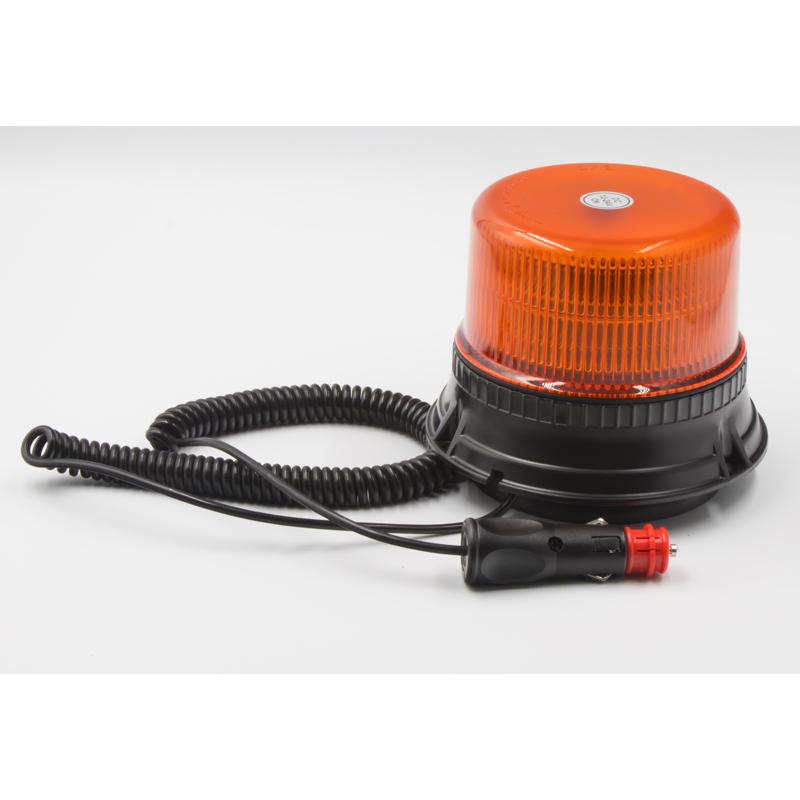 LED maják, 12-24V, 12x3W, oranžový magnet