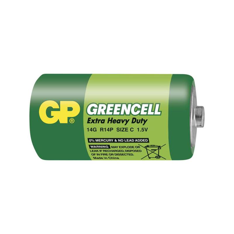 Baterie GP R14 (C, malé mono), 1,5V