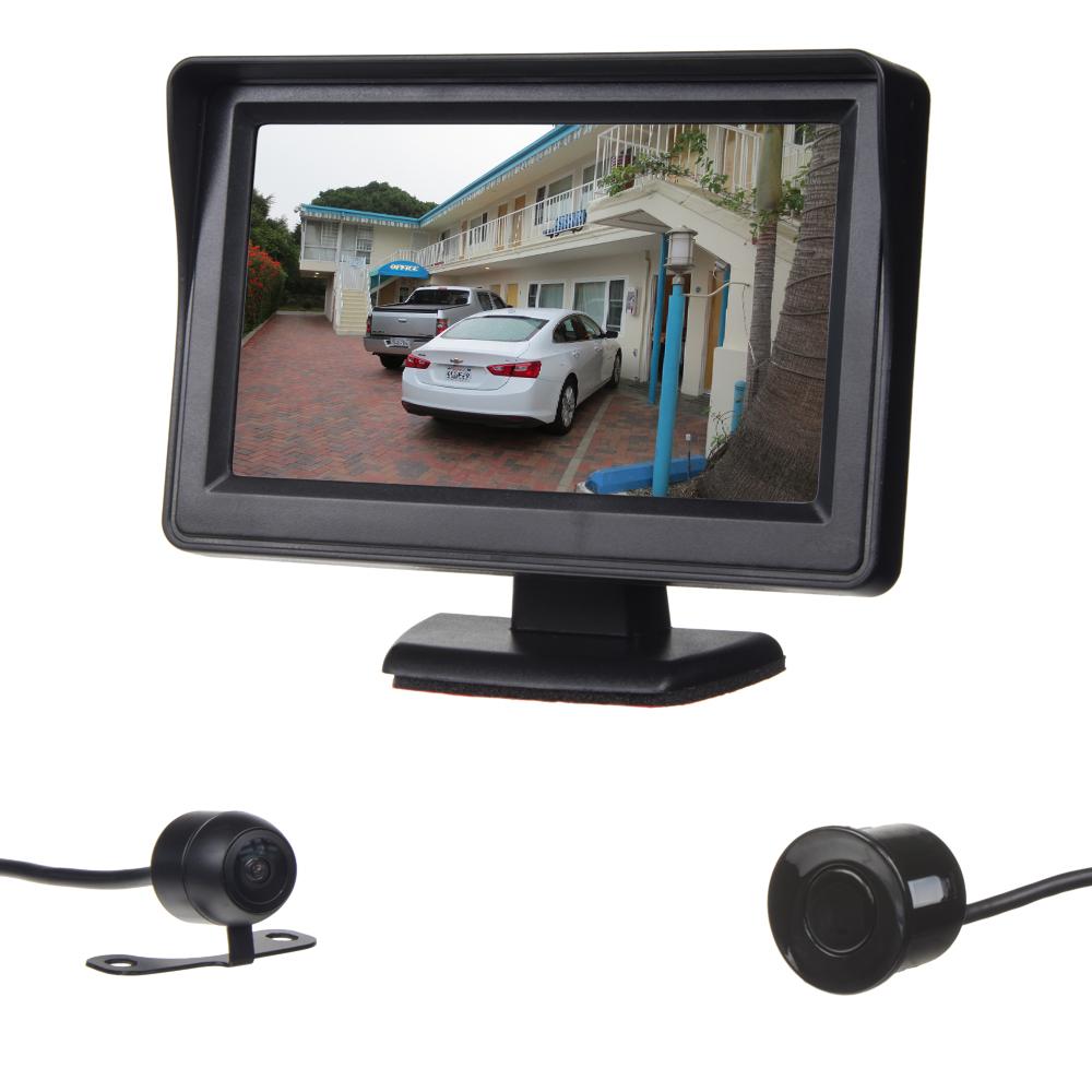 Parkovací systém se 4-mi čidly a kamerou + LCD 4,3