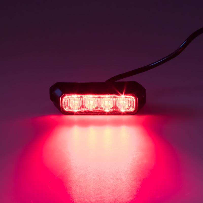 PREDATOR 4x3W LED, 12-24V, červený, ECE R10