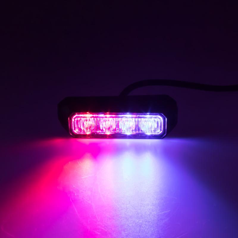 PREDATOR 4x3W LED, 12-24V, modro-červený, ECE R10 R65