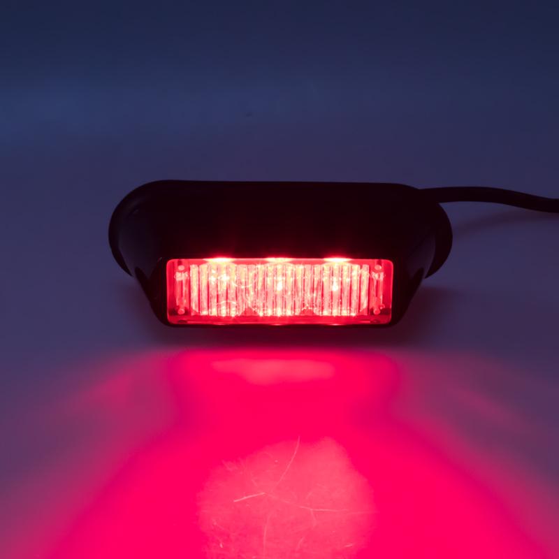 PREDATOR 3x1W LED, 12-24V, červený, ECE R10