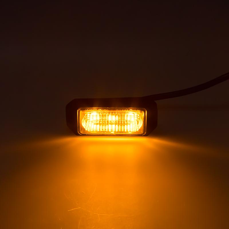 SLIM výstražné LED světlo vnější, oranžové, 12-24V, ECE R65