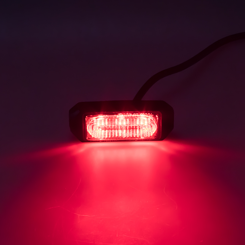 SLIM výstražné LED světlo vnější, červené, 12-24V, ECE R65