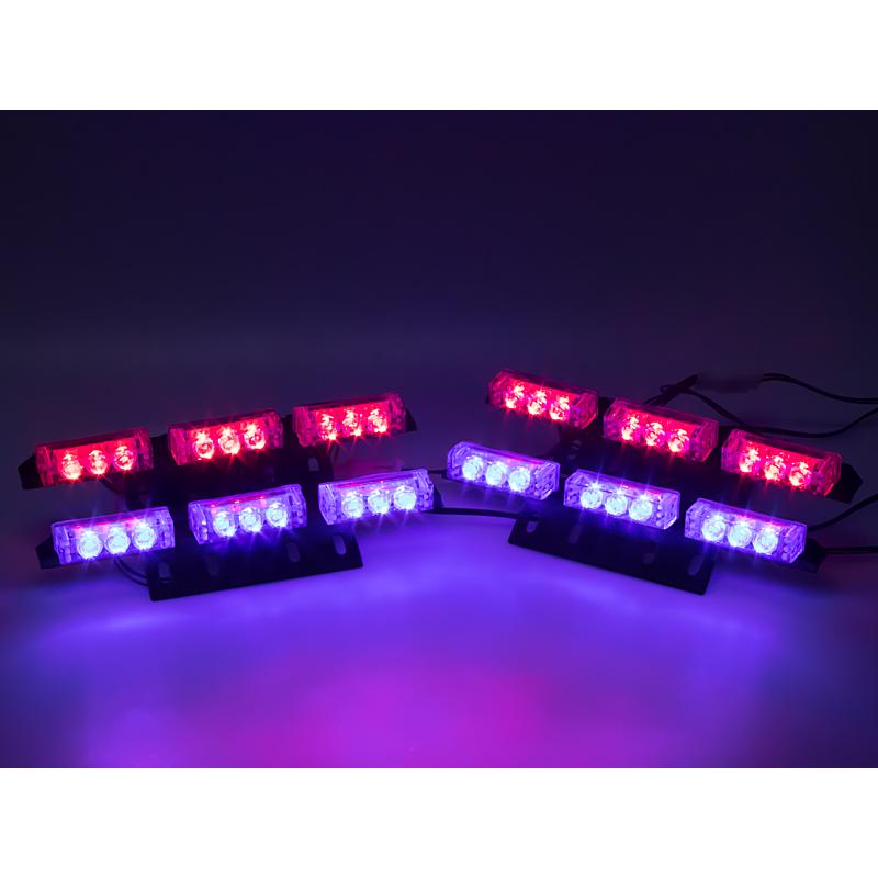 PREDATOR LED do mřížky, 12V, modro-červený