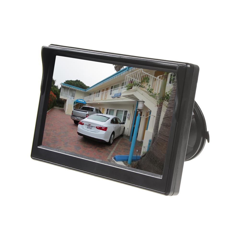 """LCD monitor 5"""" černý s přísavkou s možností instalace na HR držák"""