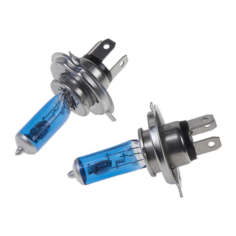 Halogen. žárovka 24V s paticí H4, Blue white 4300K, 100/90W