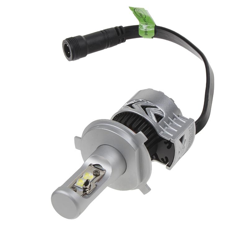CREE-XHP LED H4 (set) bílá, 9-32V, 6000LM