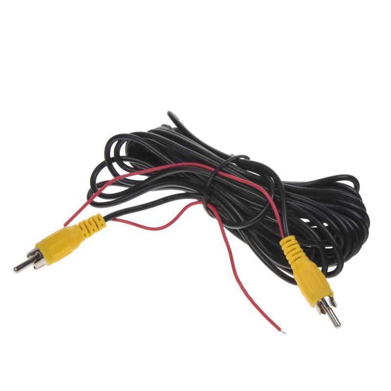 CINCH video kabel, 5m s napájením