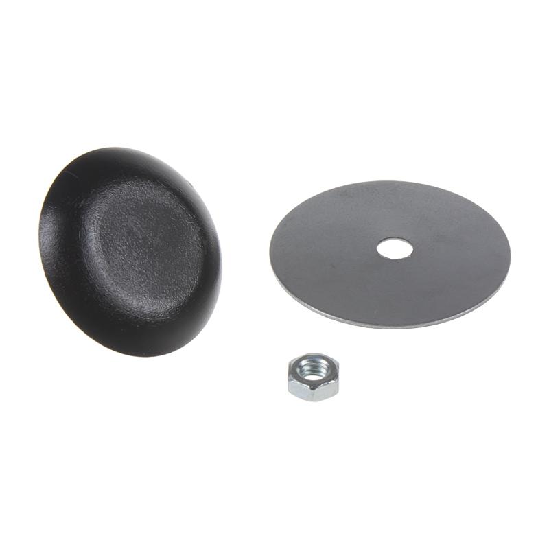 Záslepka otvoru, 30 mm černá