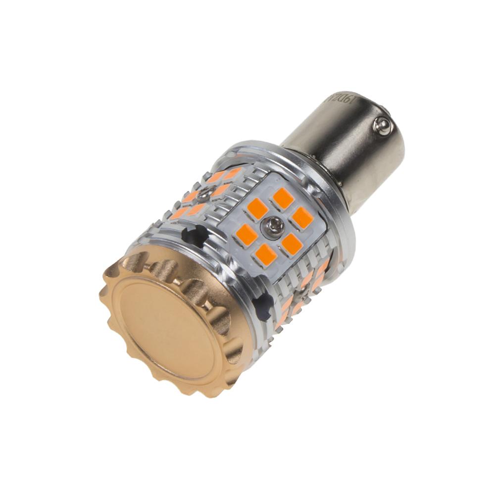 LED BAU15s oranžová, CAN-BUS, 12-24V, 30LED/3030SMD