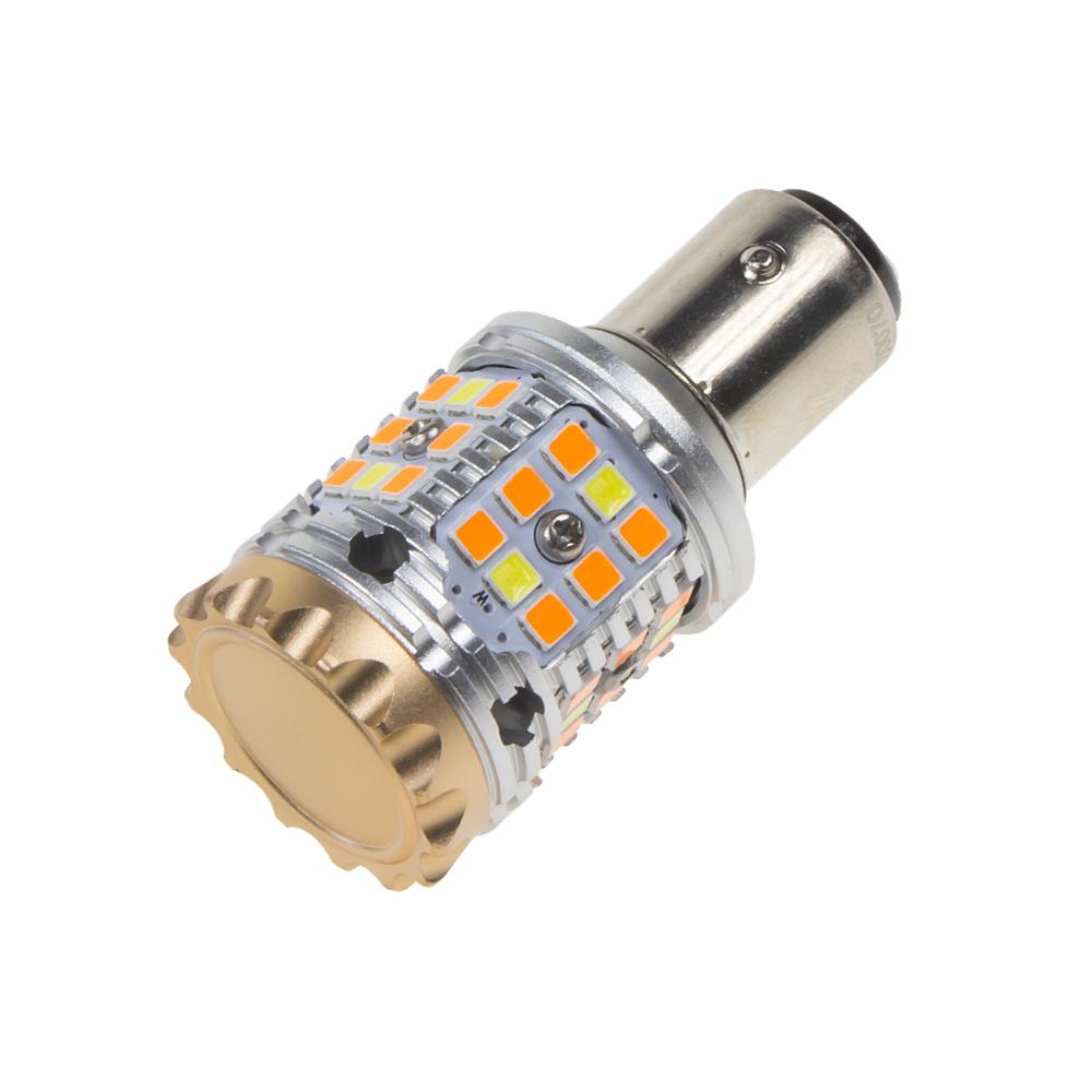 LED BAY15D bílá/oranžová, CAN-BUS, 12V, 40LED/3030SMD