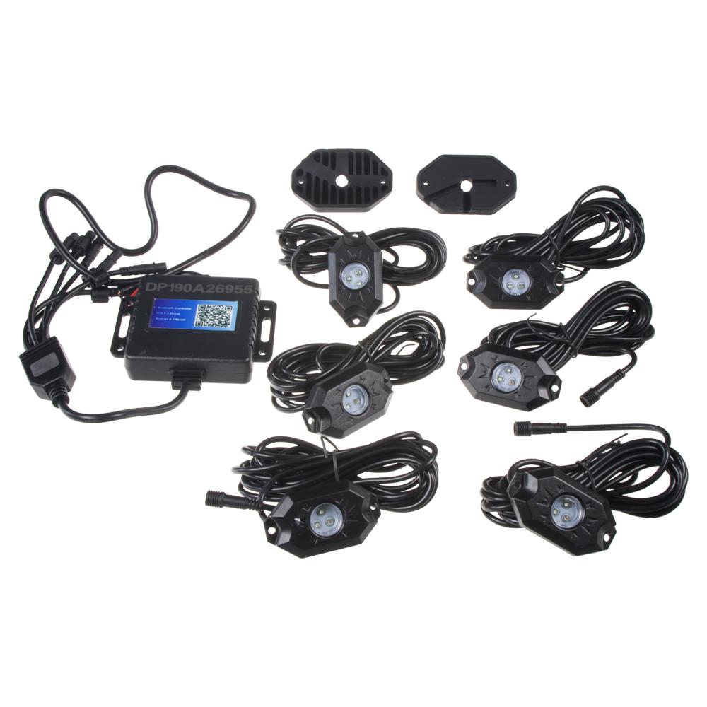 LED podsvětlení podvozku RGB 12-24V, Bluetooth, 18x3W