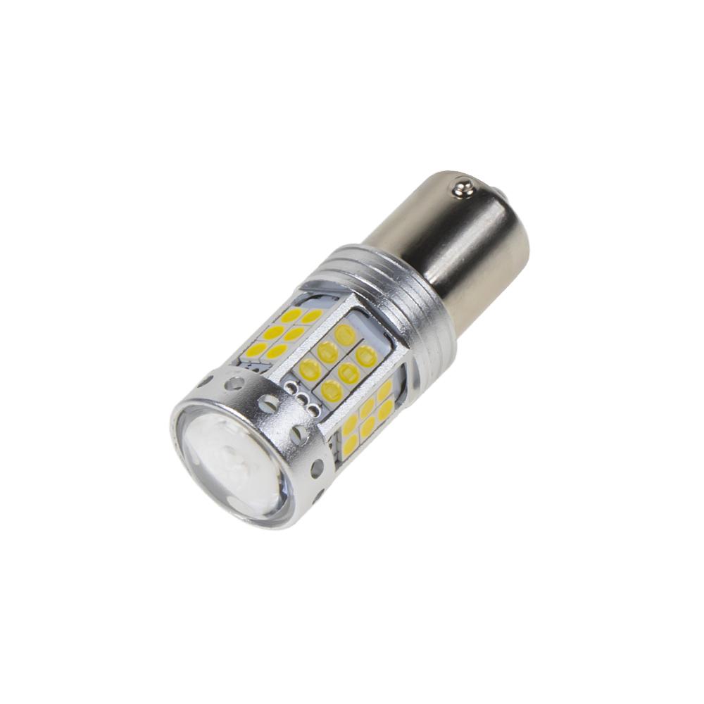 LED BA15s bílá, 12-24V, 42LED/3030SMD