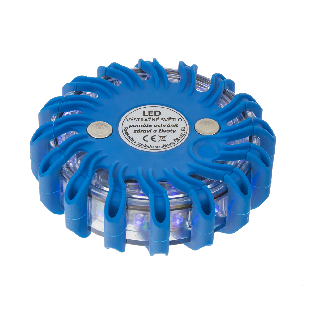 LED výstražné světlo 16LED, modré
