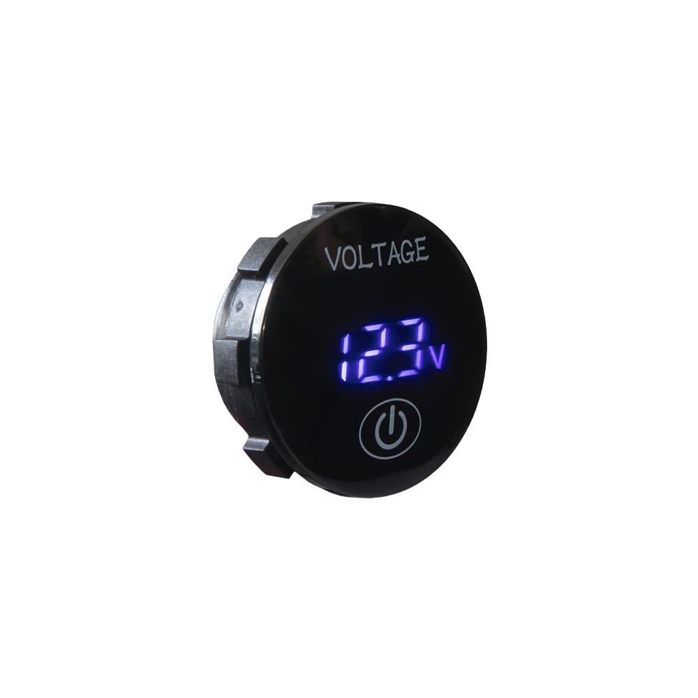 Digitální voltmetr 5-36V modrý s ukazatelem stavu baterie