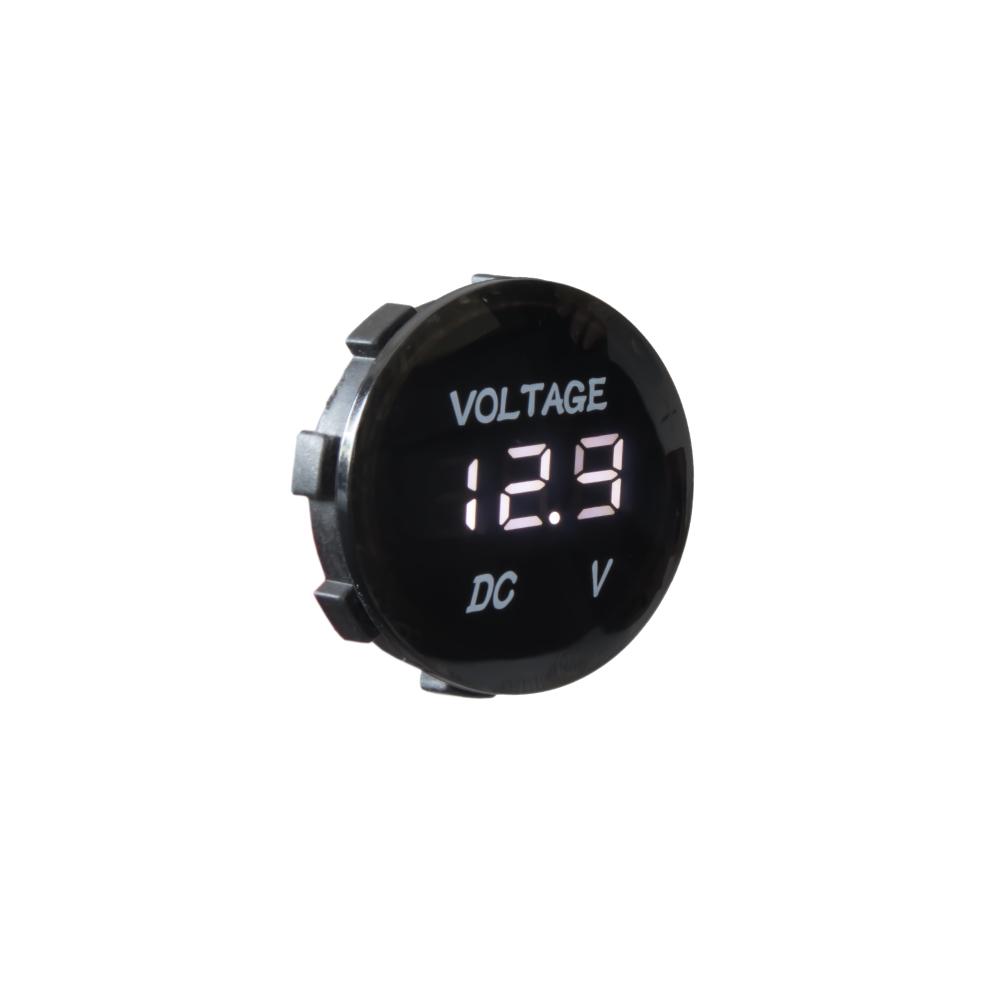 Digitální voltmetr 5-48V bílý