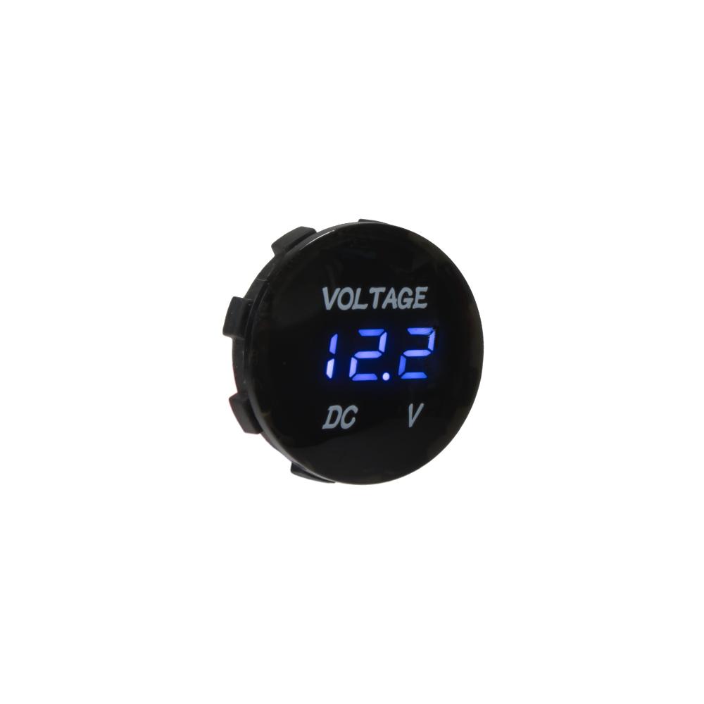 Digitální voltmetr 5-48V modrý