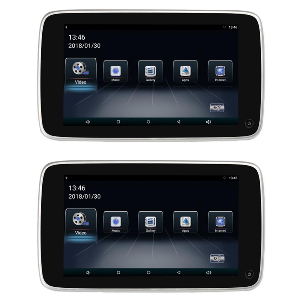 """Set LCD monitorů 10,8"""" OS Android/USB/SD s držákem na opěrku pro VOLVO"""