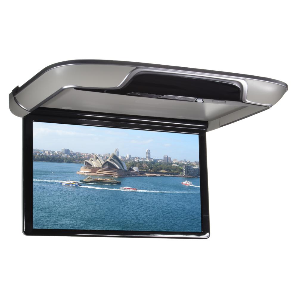 """Stropní LCD monitor 13,3"""" šedý s OS. Android HDMI / USB, dálkové ovládání se snímačem pohybu"""