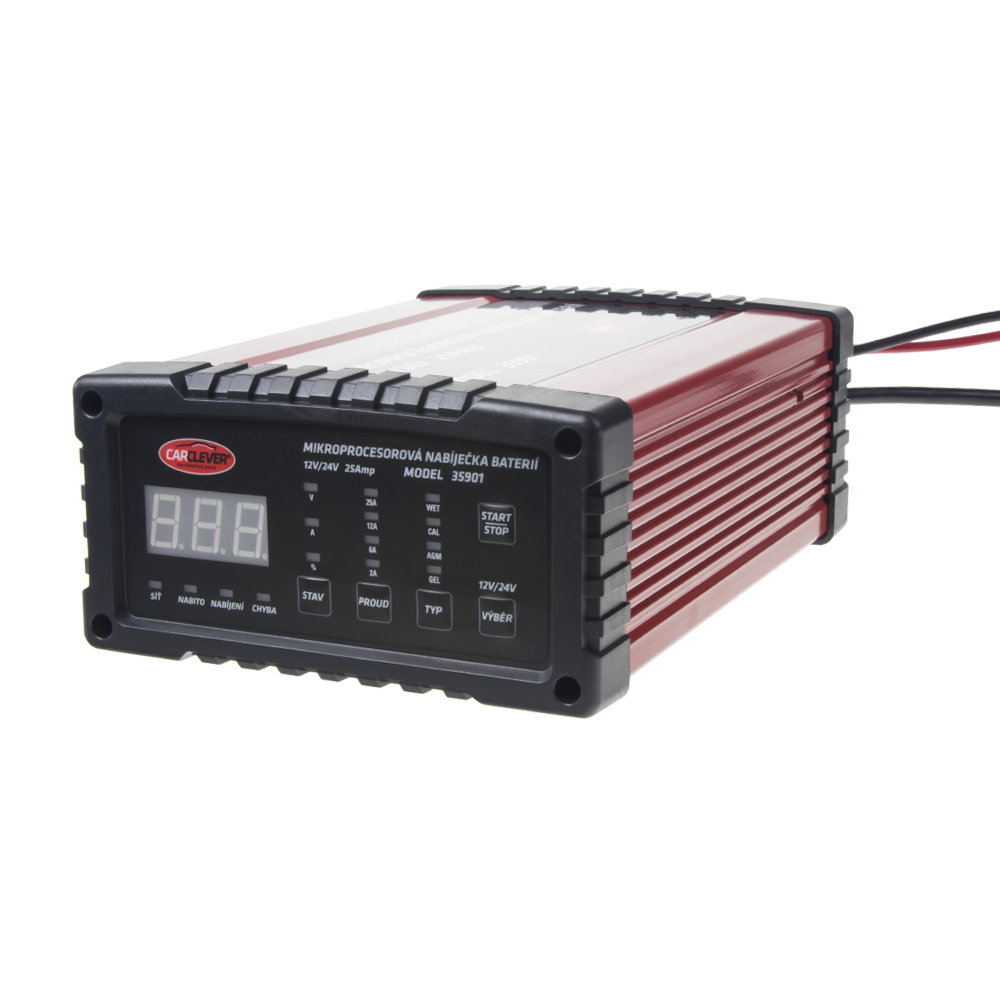 Autonabíječka 12V/25A & 24V/12A