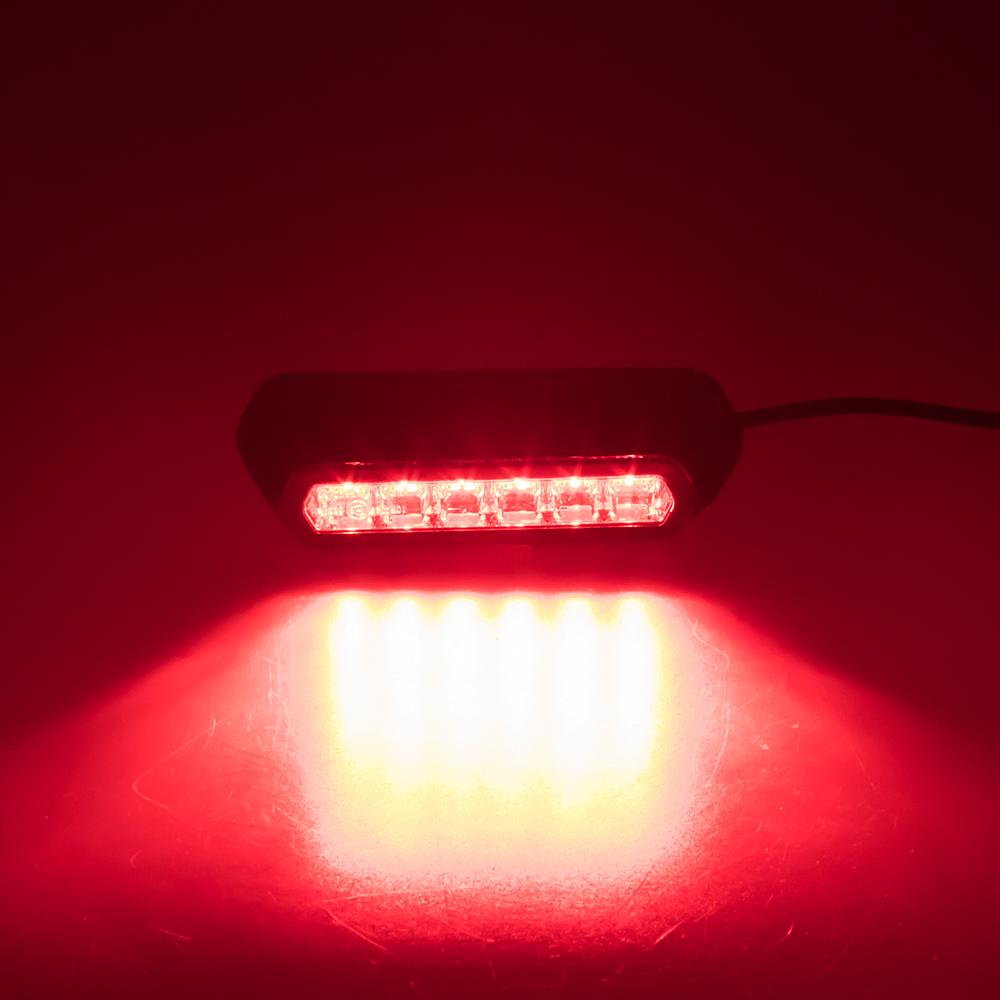 PROFI výstražné LED světlo vnější, červené, 12-24V, ECE R10