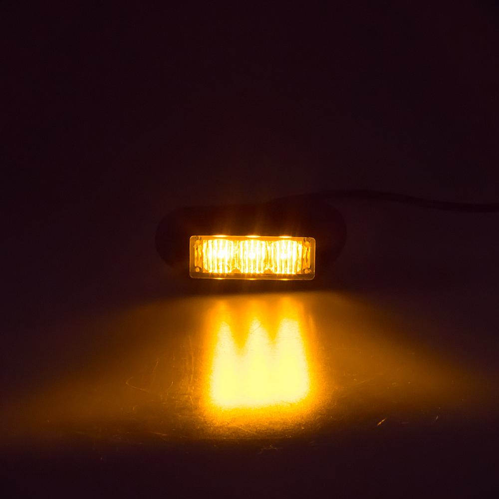 PREDATOR 3x1W LED, 12-24V, oranžový, ECE R65