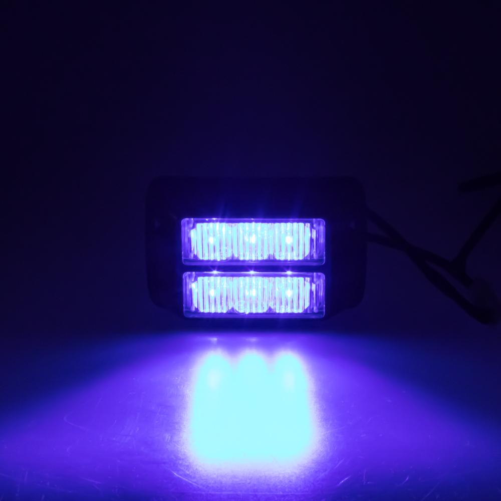 x PREDATOR dual 6x1W LED, 12-24V, modrý, ECE R10
