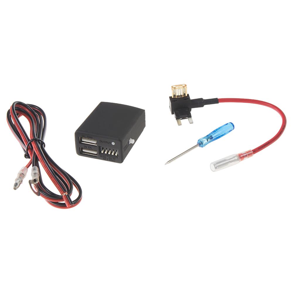 2x USB nabíječka pro DVR kamery s park. modem a kontrolou odpojení při poklesu napětí