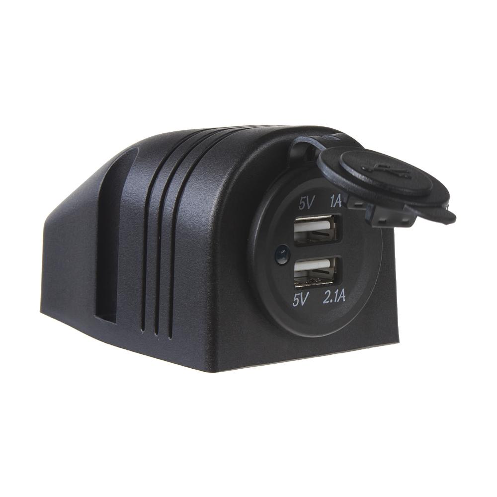 2x USB zásuvka voděodolná v přídavném panelu