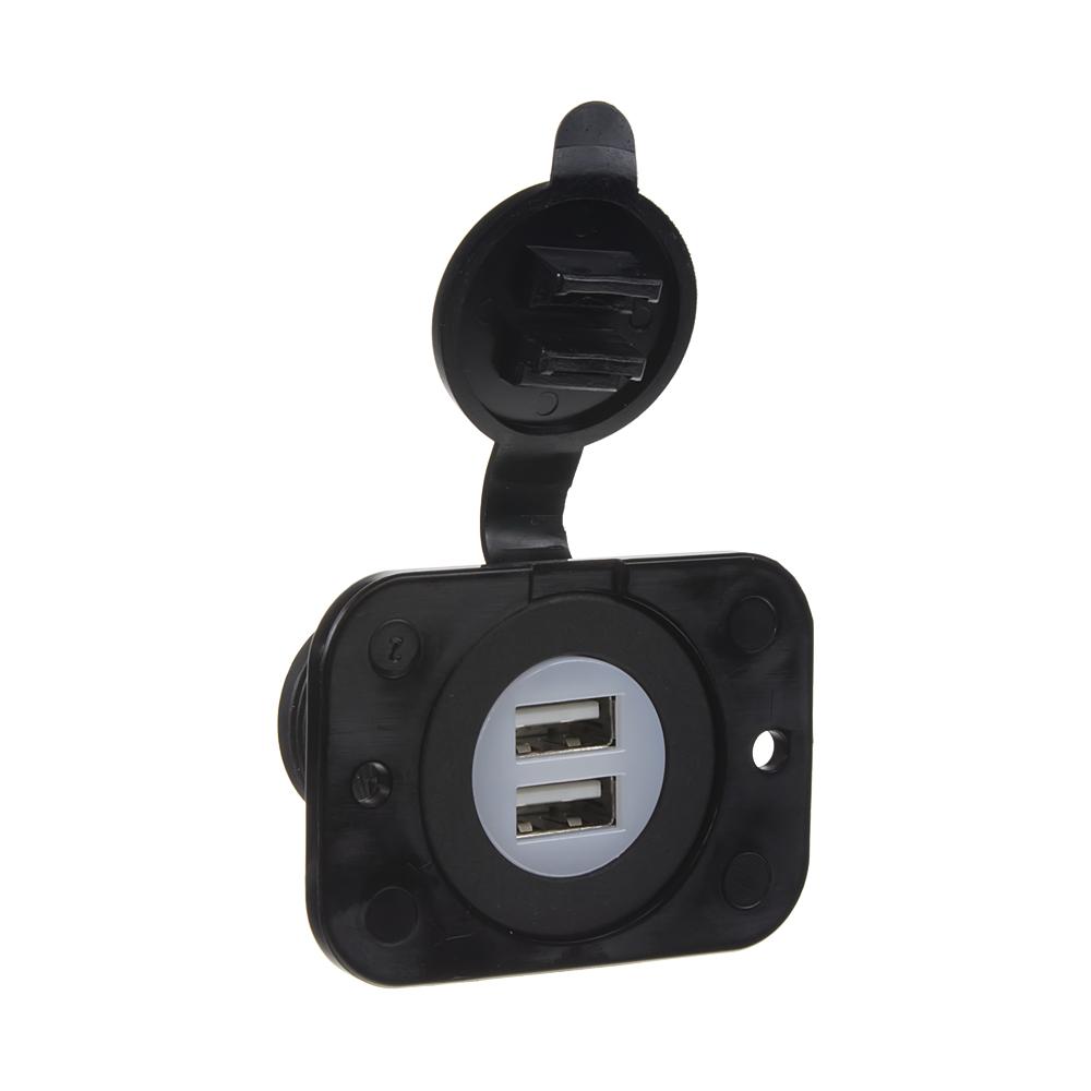 2x USB nabíječka (zásuvka) voděodolná do panelu