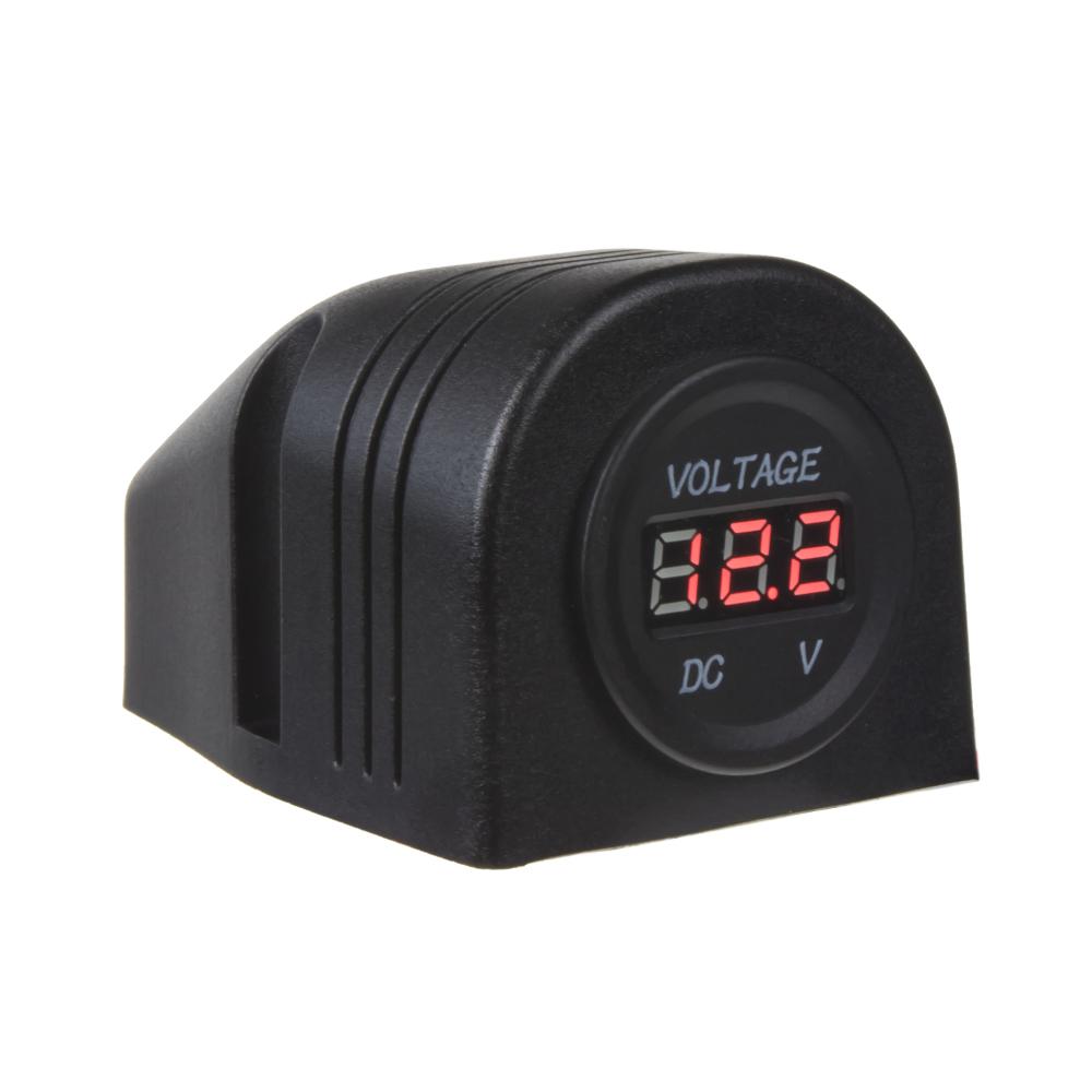 Digitální voltmetr 6-30V červený do panelu