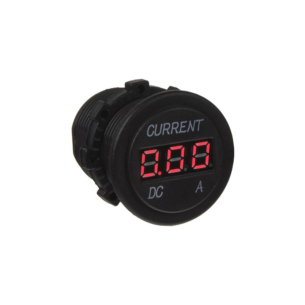 Digitální ampérmetr 0-10A červený