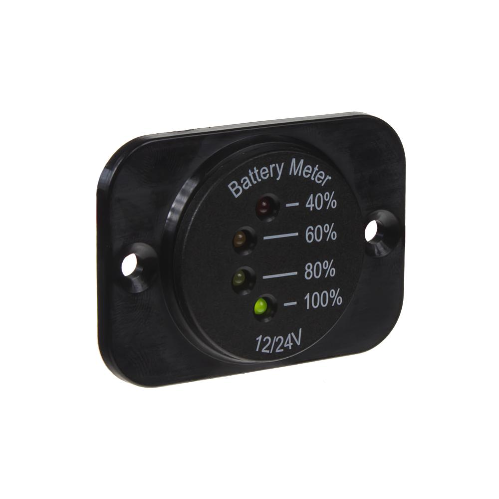 LED indikátor baterie 12-24V včetně panelu