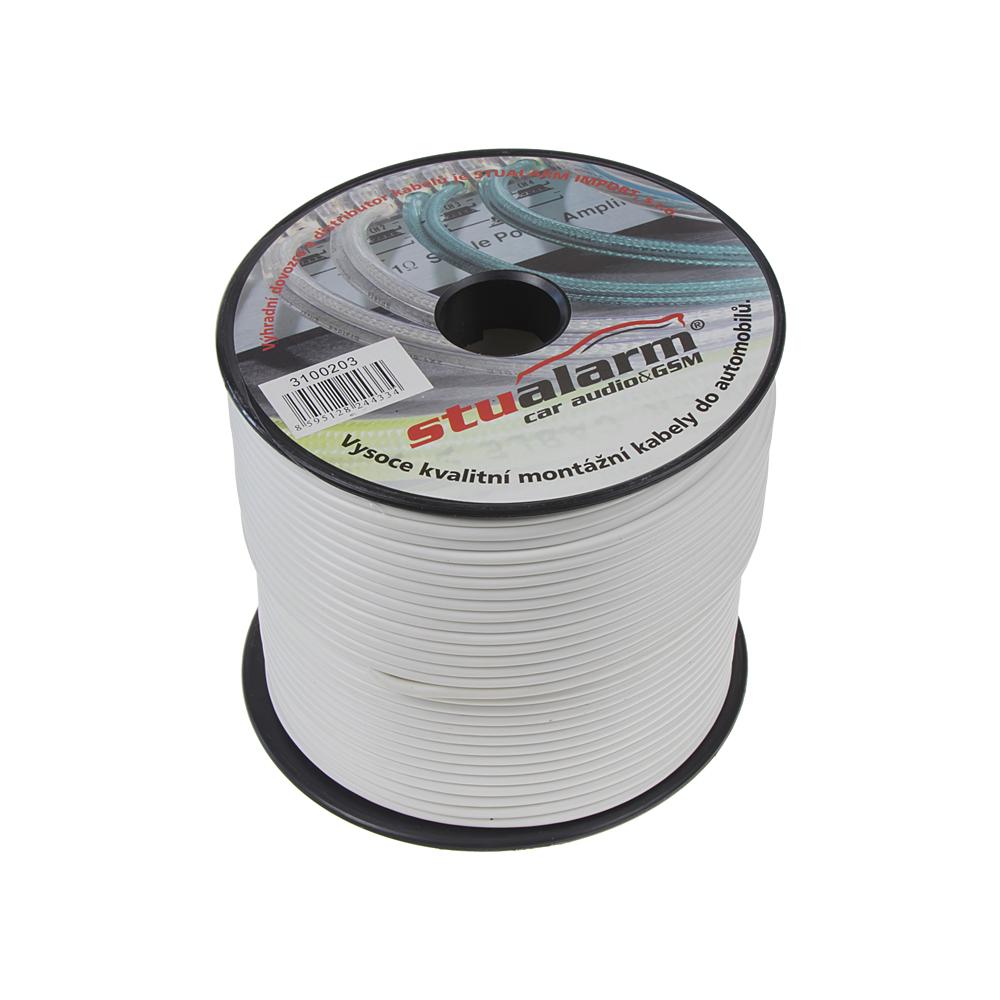 Kabel 1,5 mm, bílý, 100 m bal