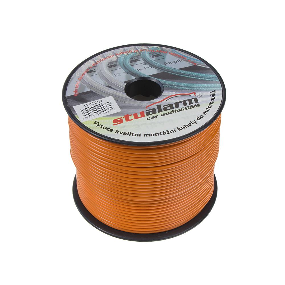 Kabel 1,5 mm, oranžový, 100 m bal