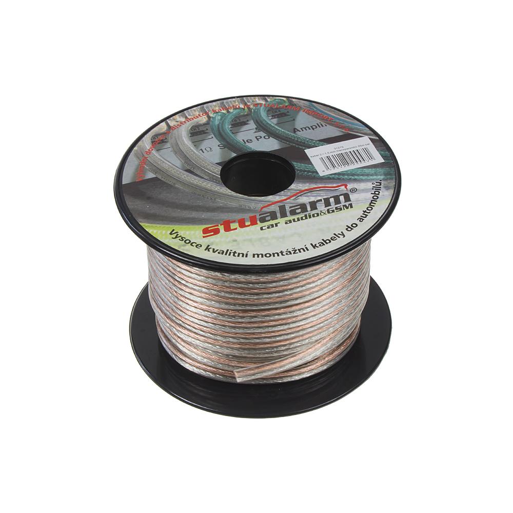 Kabel 2x1,5 mm, transparentní, 25 m bal