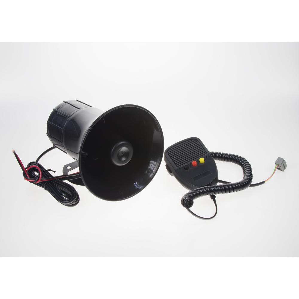 Hobby výstražný systém se 3 přednastavenými tóny + mikrofon