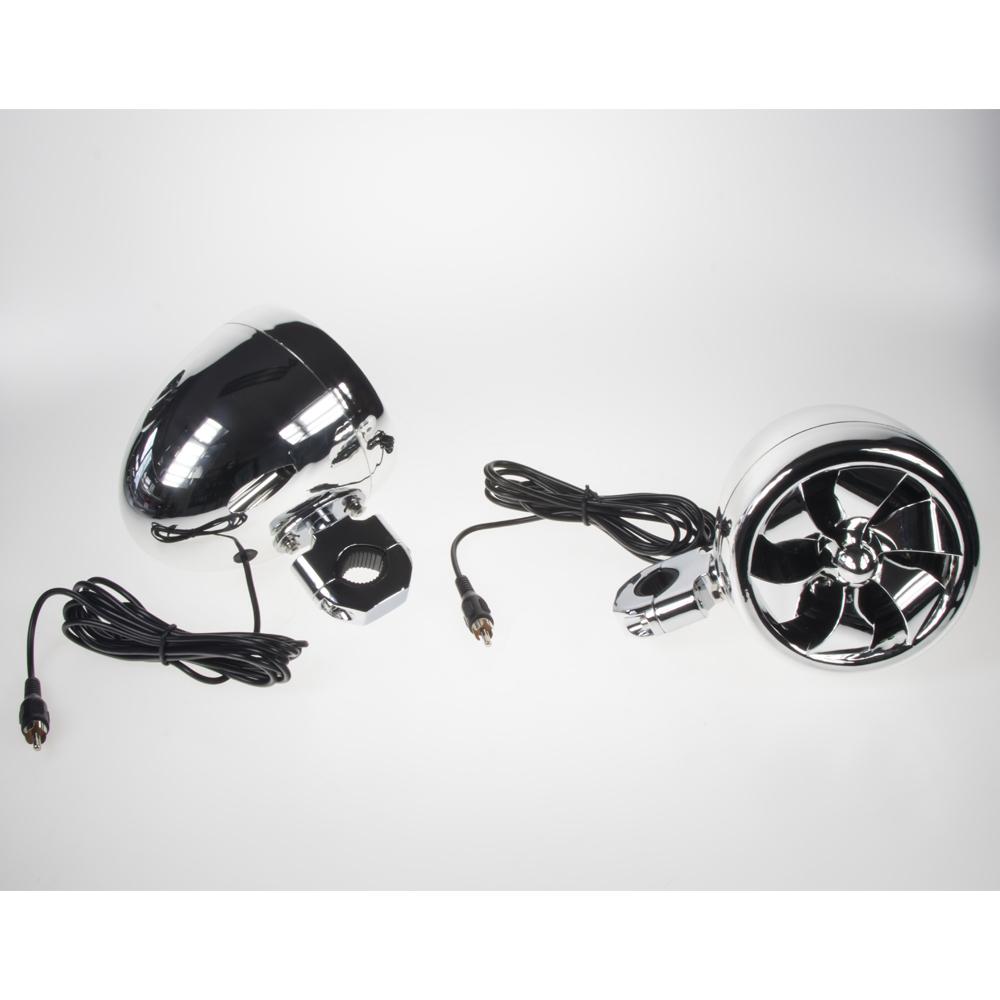 Reproduktory na motocykl, skútr, ATV