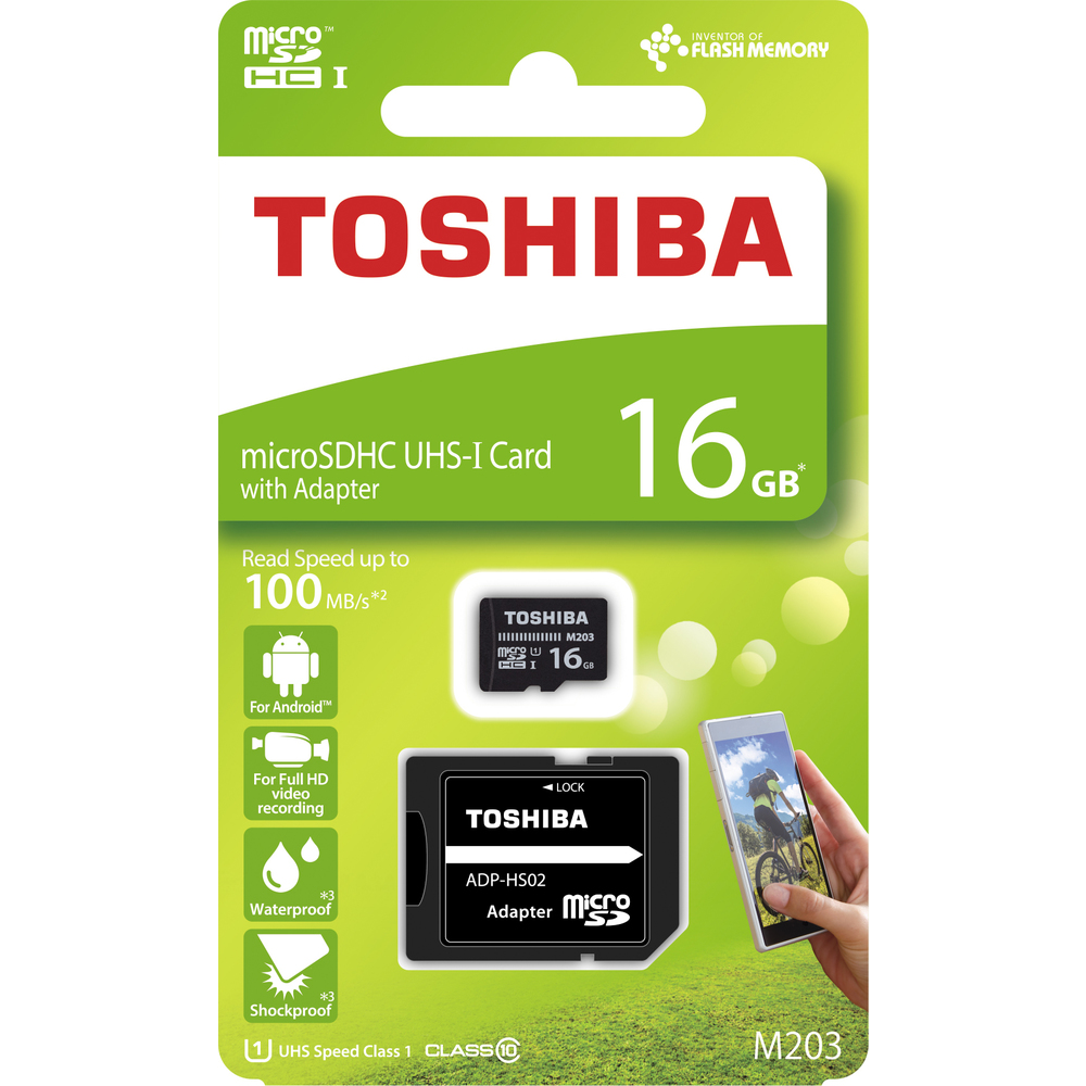 Paměťová karta TOSHIBA micro SDHC 16GB včetně adaptéru
