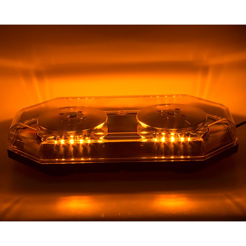 LED rampa 388mm, oranžová, magnet, 12-24V, homologace ECE R65
