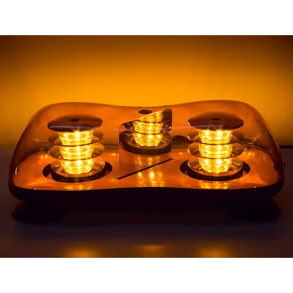 LED rampa oranžová, 36LEDx3W, magnet, 12-24V, 419mm, ECE R65 R10