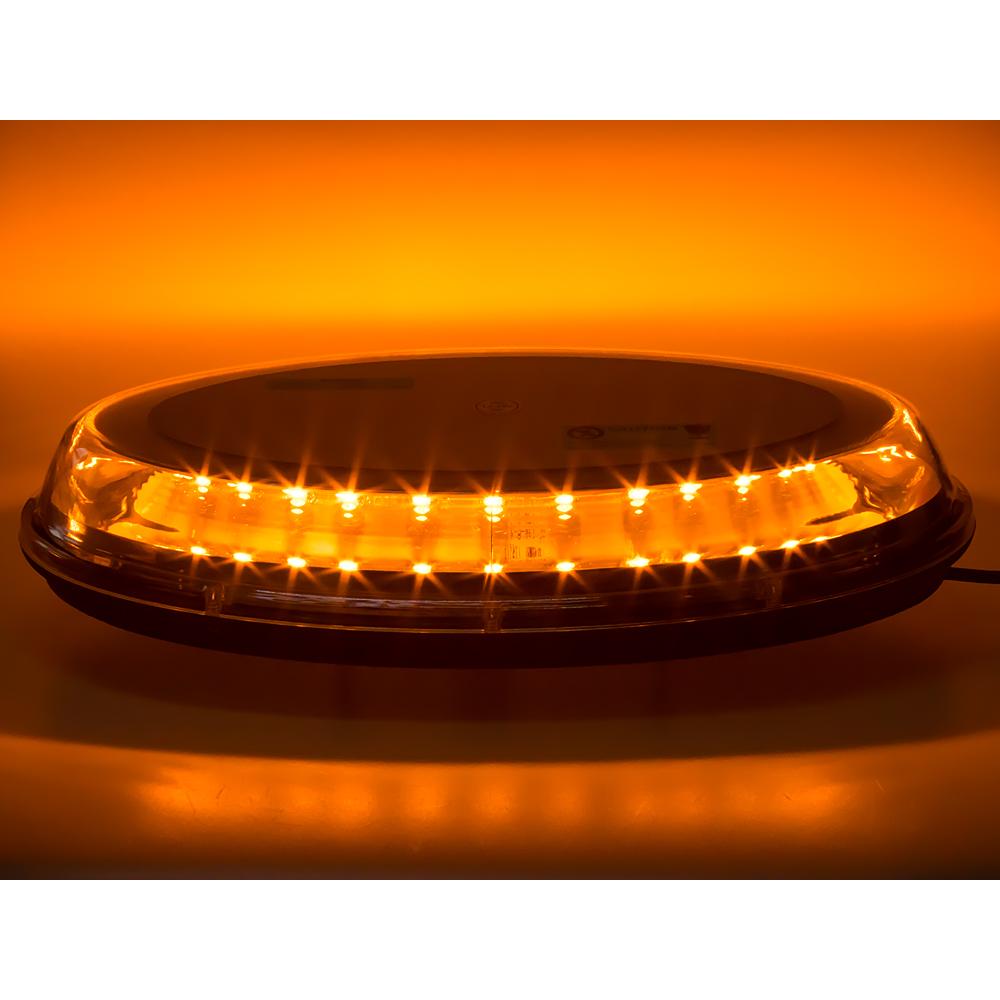 LED rampa oranžová, 32LEDx3W, fix, 12-24V, 395mm, ECE R65 R10